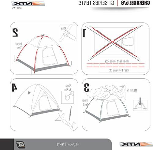NTK to 6 by 9.8 Dome Family 100% 2500mm, Assembly, Fabric Full Mosquito Mesh