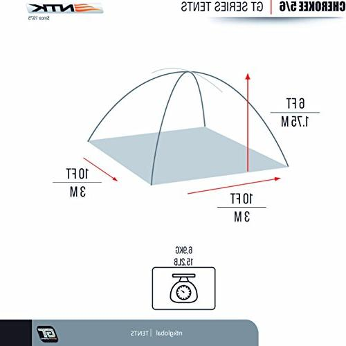 NTK to 6 9.8 by 9.8 Dome Camping 100% Assembly, Durable Fabric Coverage Rainfly