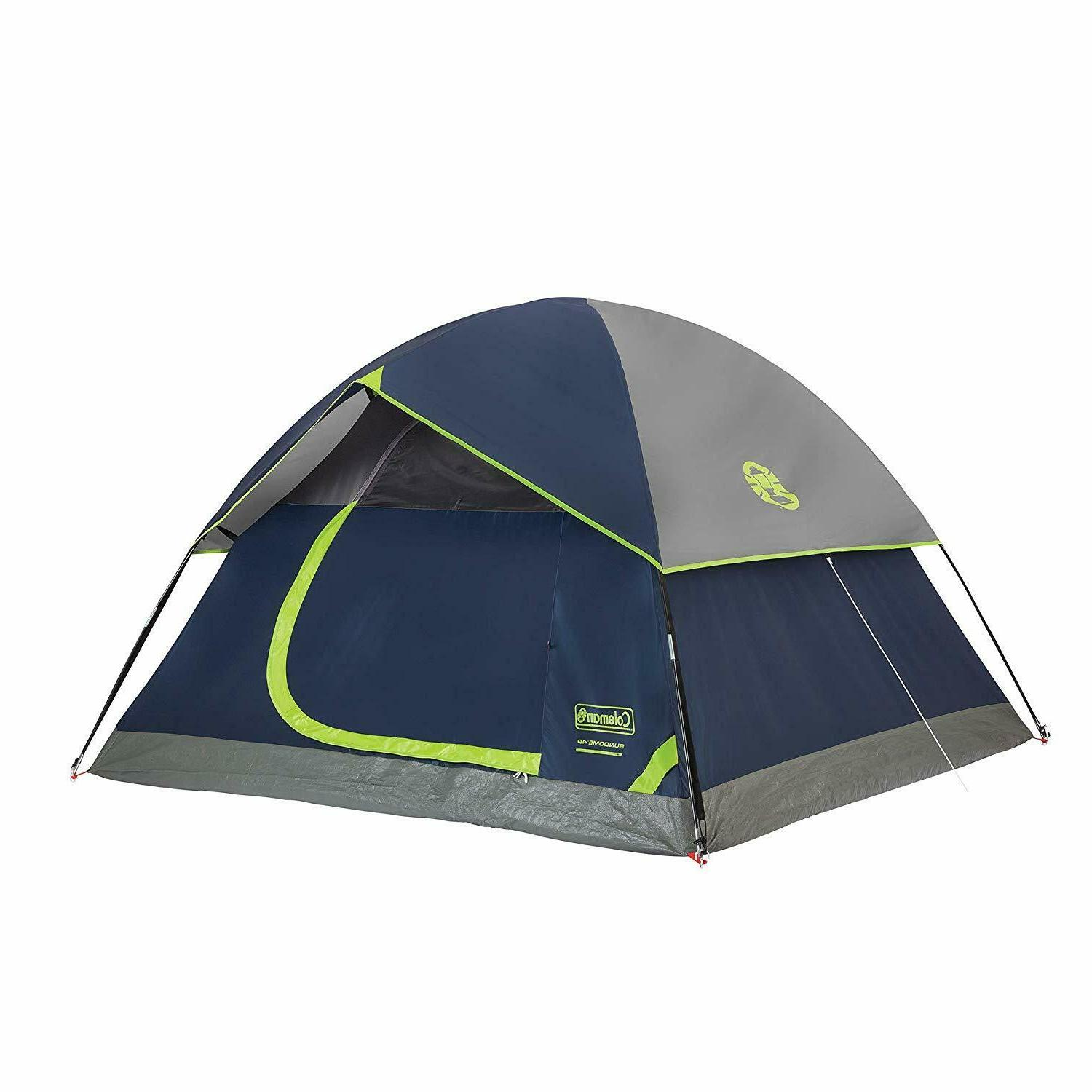 4 person dome tent for camping sundome