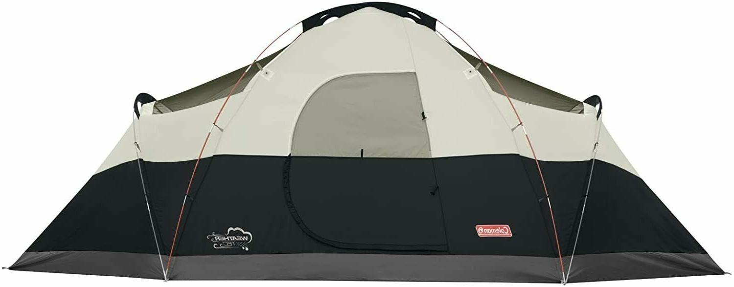 Coleman Red Canyon Person Tent, Black Camping New