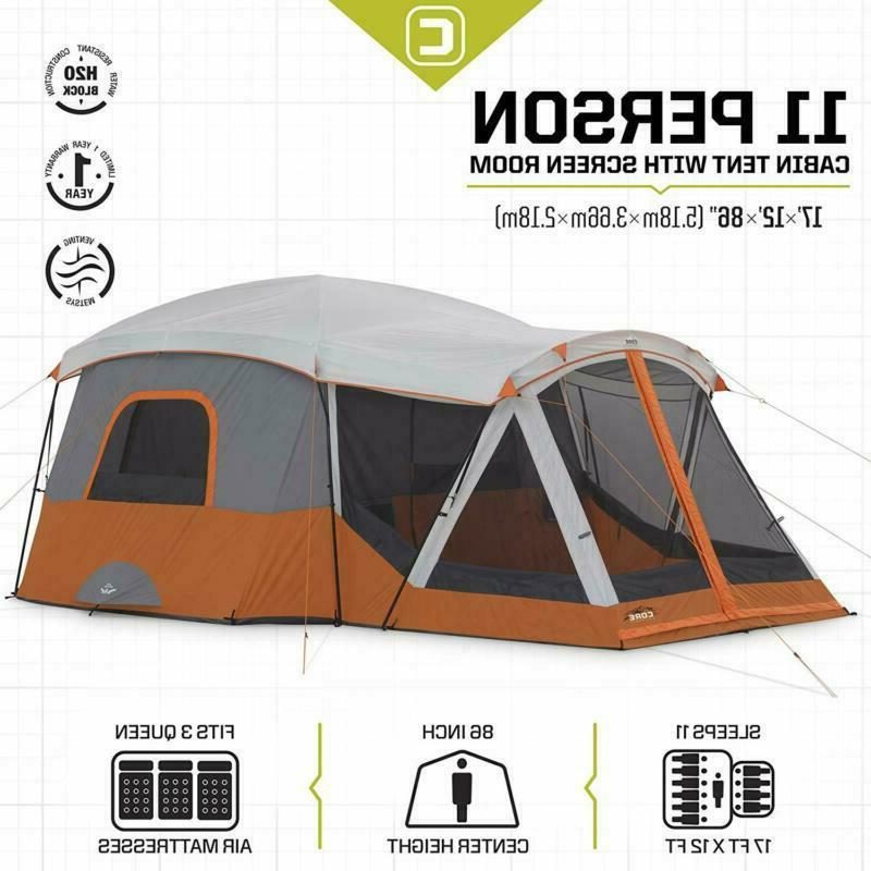 Core 11P Tent With Screen Room