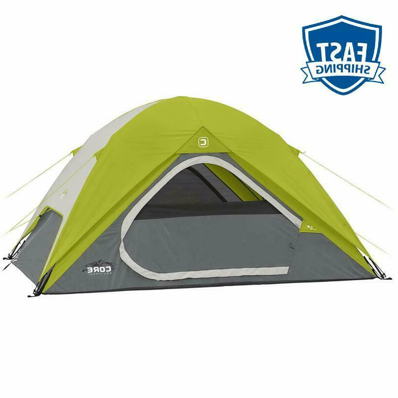 Core Equipment Core 4 Person Instant Dome Tent - 9' X 7', Gr