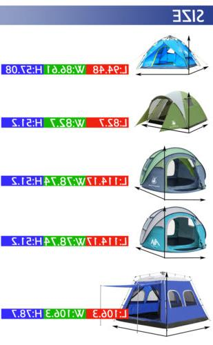 Double layer Pop Up Tent Person Cabin