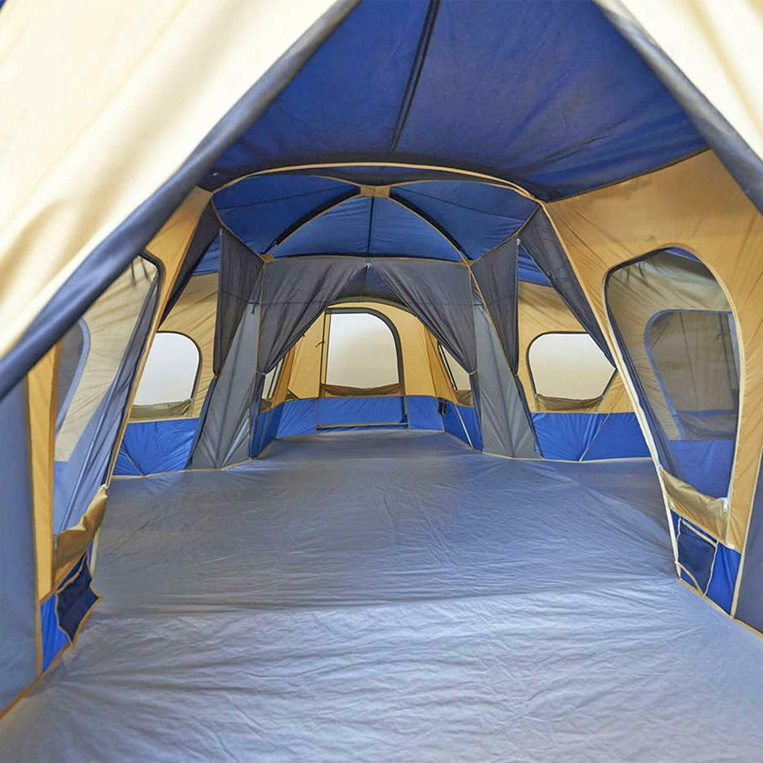Family Tent 14 Person Base 4 Rooms Outdoor
