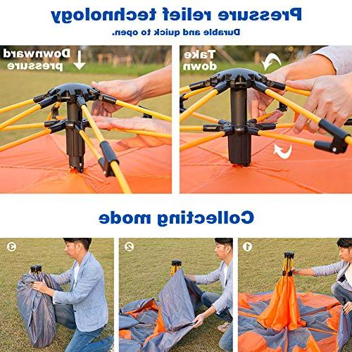 Lw Tent Person Camping Dome Tent Instant Pop