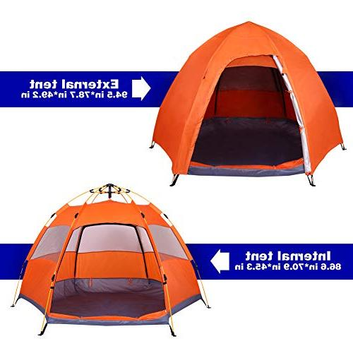 Lw Family Tent Person Camping Tent Pop Up