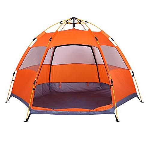 family tent person camping