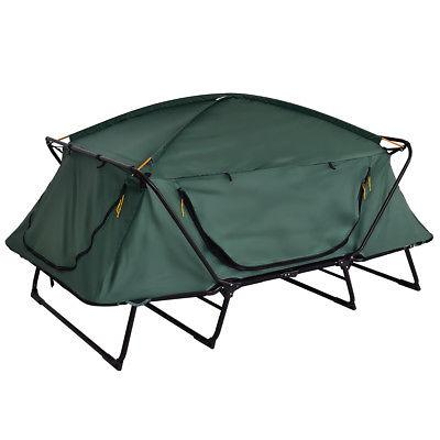Folding 2 Person Camping Cot Hiking Outdoor Bag