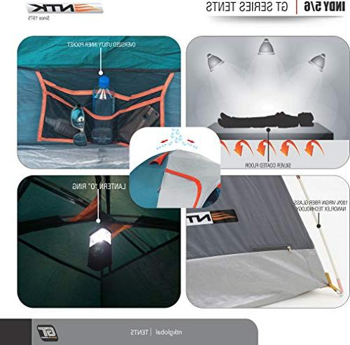 NTK GT to 5 Person by Foot Outdoor Dome Family 100% Waterproof Design,Easy Assembly, Durable Full - Micro Mosquito