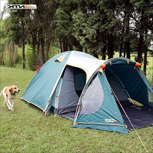 NTK GT 4 to Person by 8 Dome Family Tent 100% Design,Easy Assembly, Full - Micro
