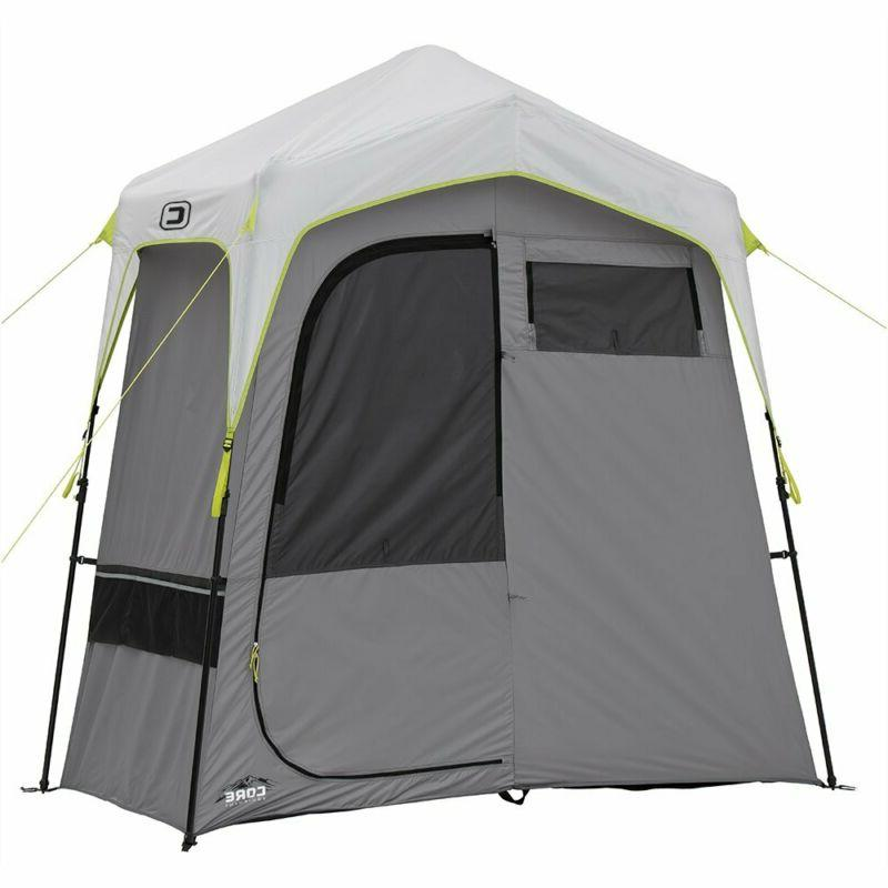 instant camping utility shower tent with changing