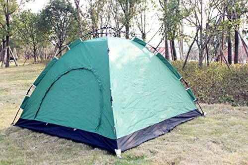 Everking Instant Tent 3-4 Person Automatic Up Waterproof for Outdoor Camping Backpacking with Zippered Door Carrying Bag