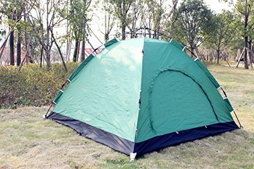 Everking Instant Family 3-4 Person Pop Up Tent Outdoor Sports Hiking Backpacking Travel Beach with Zippered Carrying