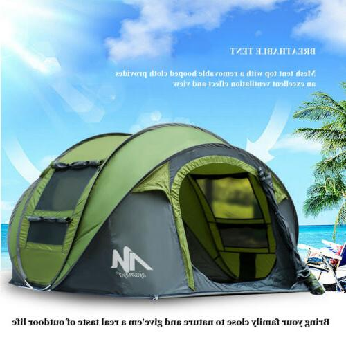 Person Camping Family Hiking Tent