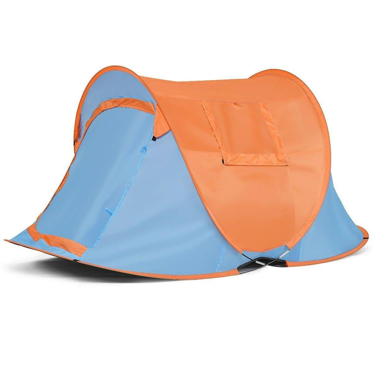 Instant Portable Camping Person Bag Blue