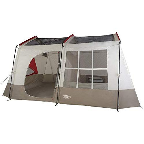 Wenzel 12 14 Cabin Style Camping w/Divider, Red