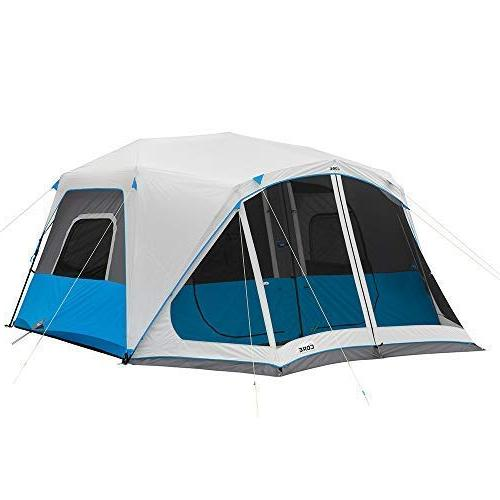 lighted 10 person instant cabin