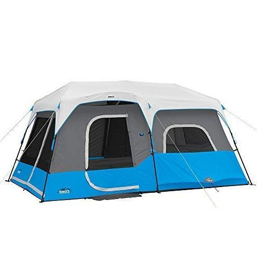 lighted 9 person instant cabin
