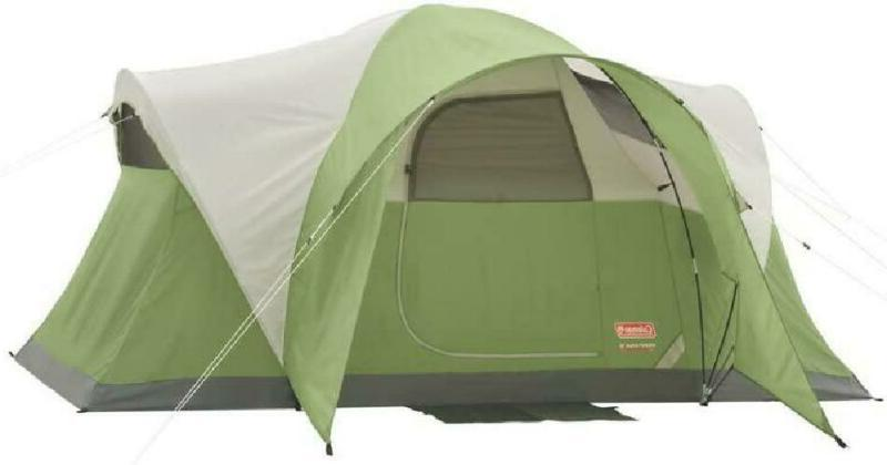 """Coleman Montana 6 Person Tent Hinged Door 5' 8"""" Ht Camping F"""