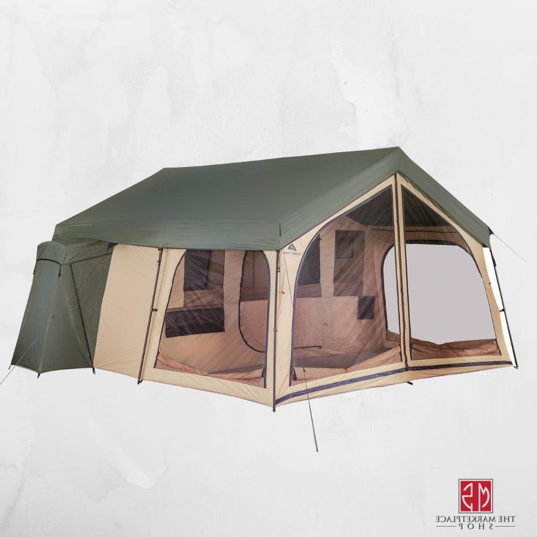 Outdoor Camping Tent 14 Person Large 2 Room Family Lodge Scr