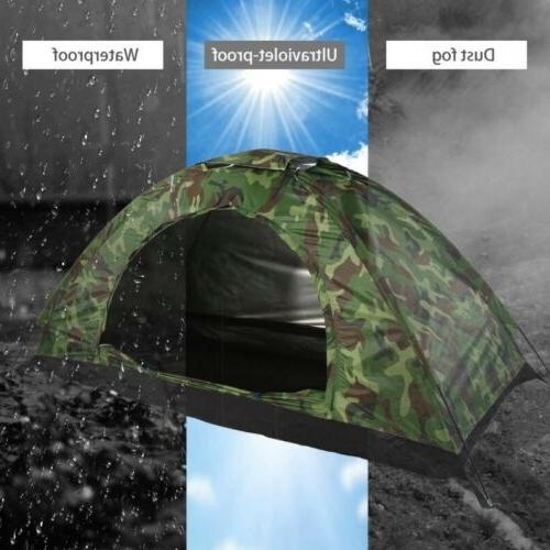Camping Person Dome Tent w/ Bag Insect Net