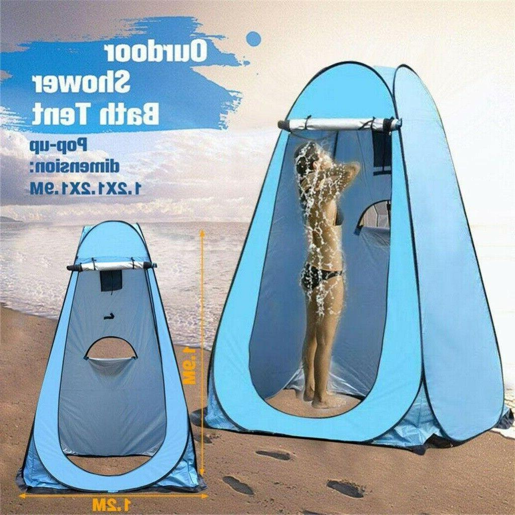 Pop Up Shower Tent Shelter Toilet Beach Camping Outdoor Chan