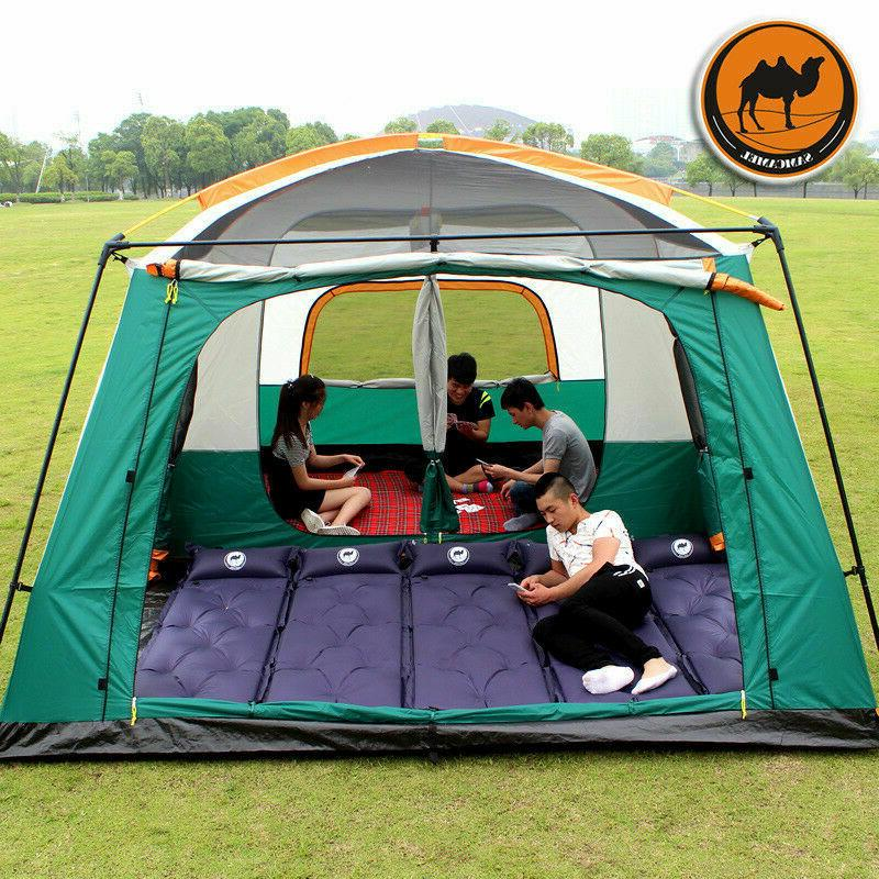 Outdoor 8-12 Camping Tents Two Bedroom Quality