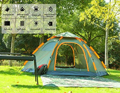 Blanmour Camping Family Tent Waterproof Doors Vent Ideal Shelter Travel Outdoor