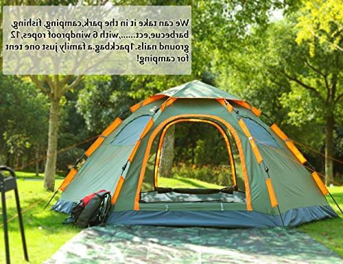 Blanmour up Camping Tent 3-5 Family Tent Waterproof Doors Mesh Ideal Camping Travel Outdoor