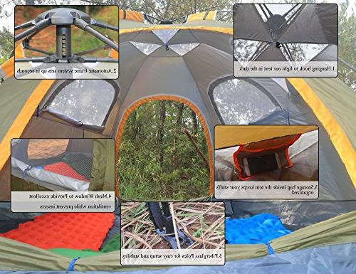 Blanmour up Camping Tent Family Waterproof Doors Vent Ideal Travel Outdoor