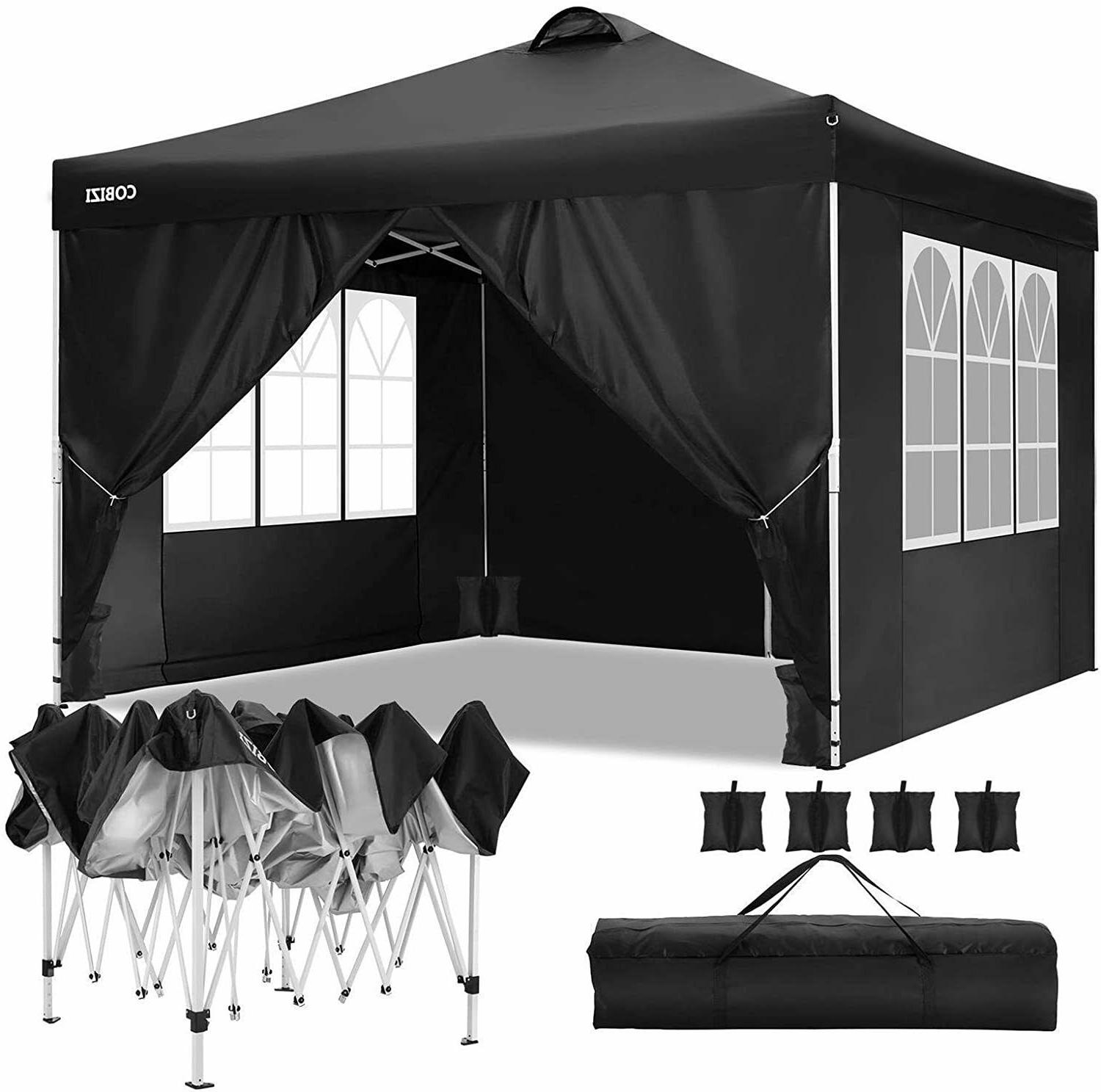 Pop-up Outdoor Gazebo Camping Tent w/ Air Vent+4