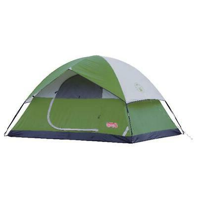 Coleman Sundome Easy Setup 6 Person Camping Tent, Green