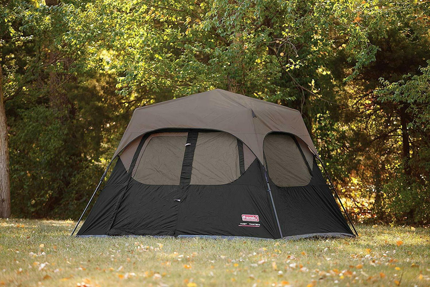Tent Camping Hiking Outdoor Rain Fly Easy setup Coleman 6-Pe