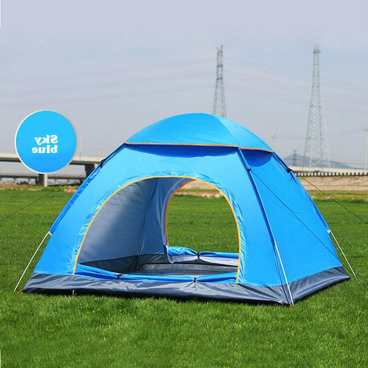 Camping Pop Automatic Tent Hiking 3-4Man