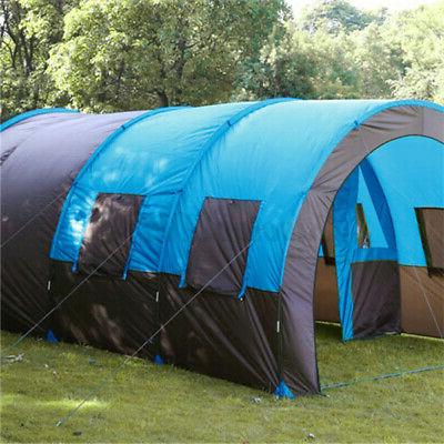 US 8-10 Person Family Camping Shelter Hiking Double
