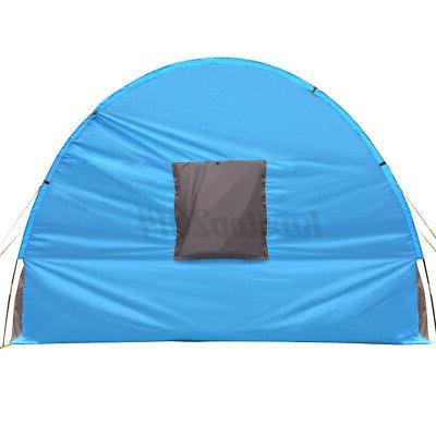 US 8-10 Person Camping Tunnel Tent Shelter Hiking Layer
