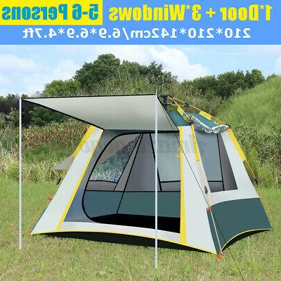 us 8 10 person family camping tunnel