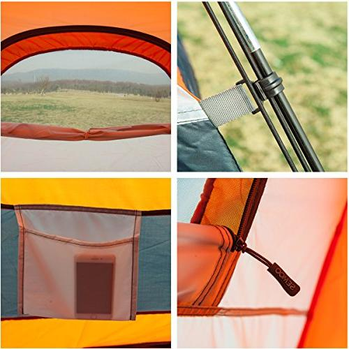 SEMOO Water Resistant, Dome Tent for 2-3 1 Door, 3-Season with