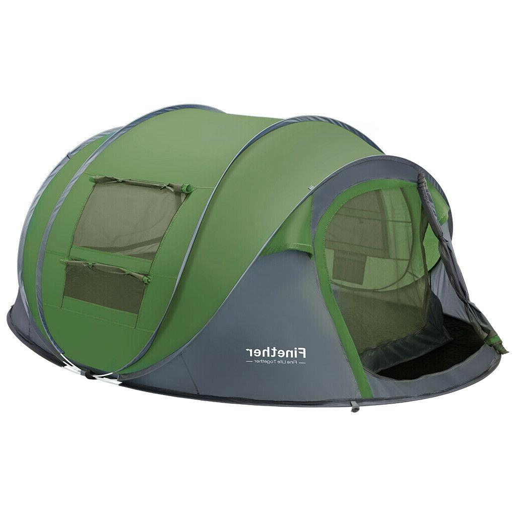 Waterproof Instant Pop Up Tent Green Camping Hiking Tent