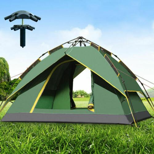 Waterproof 4 Person Hydraulic Instant Automatic Camping Tent