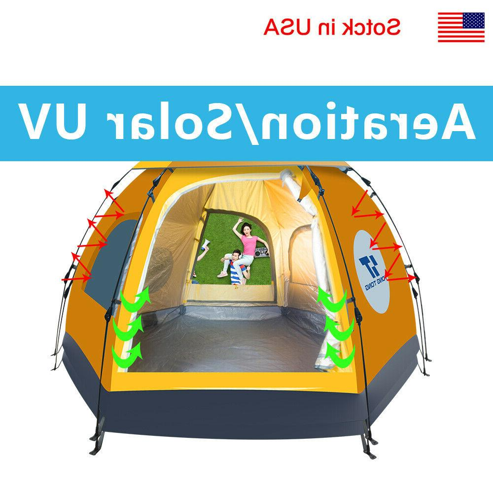 Camping Hiking Tent 4-6 People Waterproof Outdoor Automatic