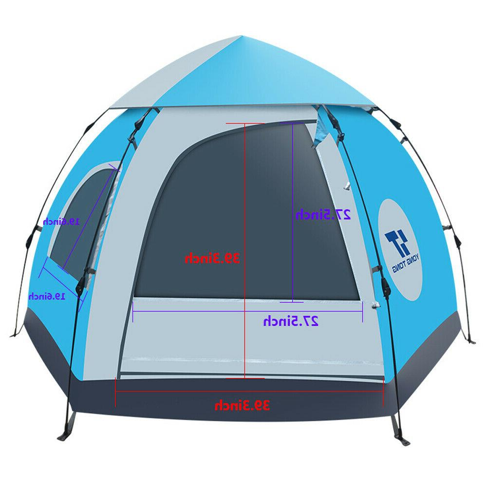 5-6 People Camping Hiking Tent Waterproof Instant Up
