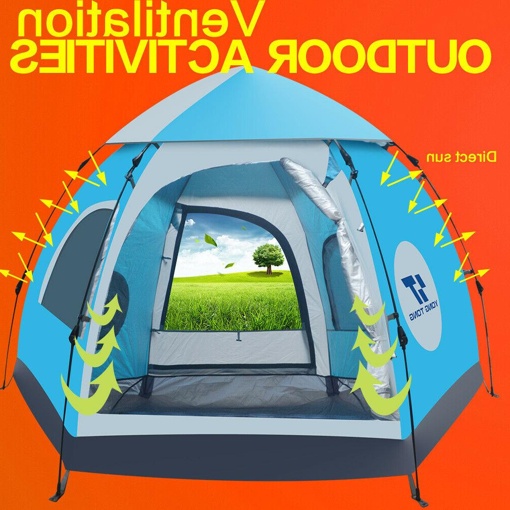 Waterproof 5-6 Outdoor Instant Popup Camping Hiking Canopy