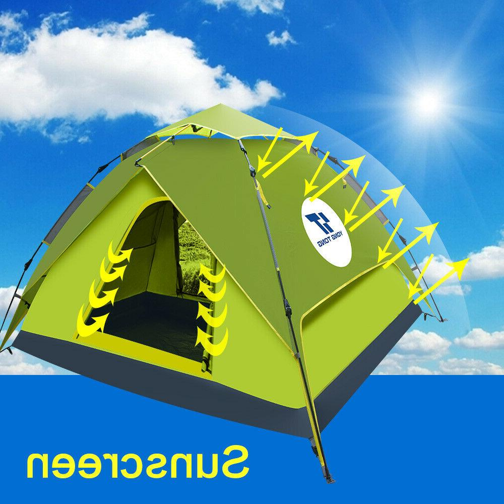 Waterproof Automatic Instant Up Camping Hiking People Outdoor
