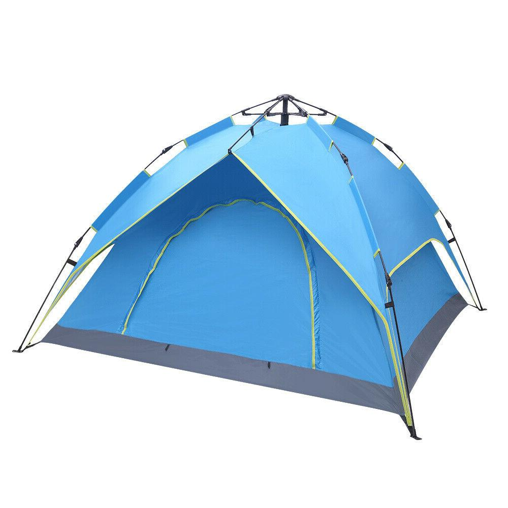 waterproof camping tent 4 person easy setup