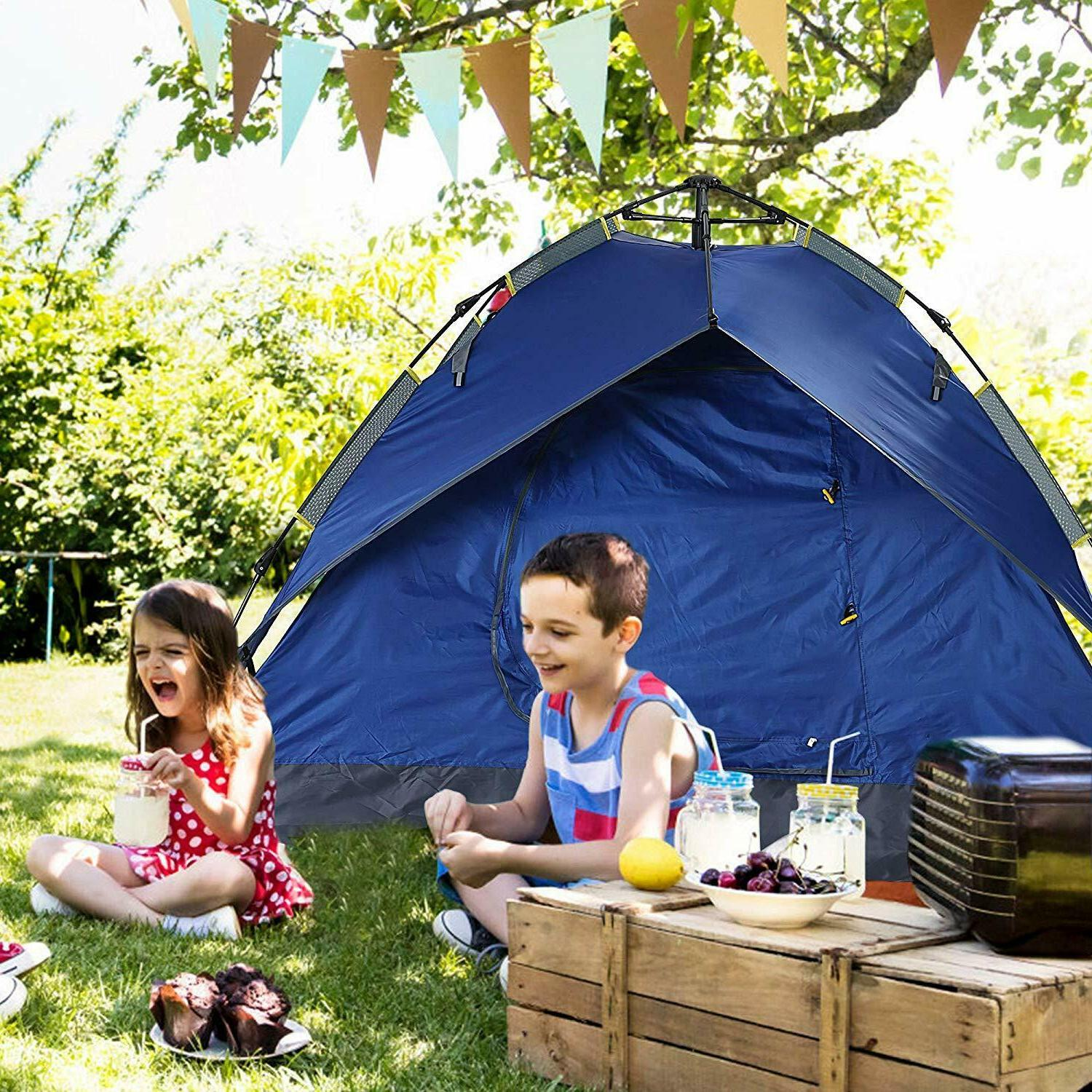 waterproof family tent for traveling 3 person