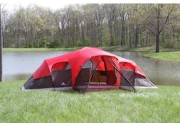 Large Tent Outdoor Ozark Trail 3 Room 10 Person Waterproof