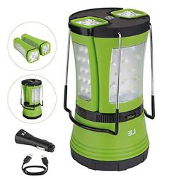 LE Rechargeable LED Camping Lantern, 600lm, Detachable Flash