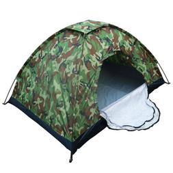 New 1/2 Person Man Camouflage Tent Single Layer Waterproof C