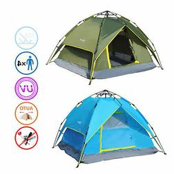 New 3-4 Person Double Layer Family Camping Hiking Instant Te